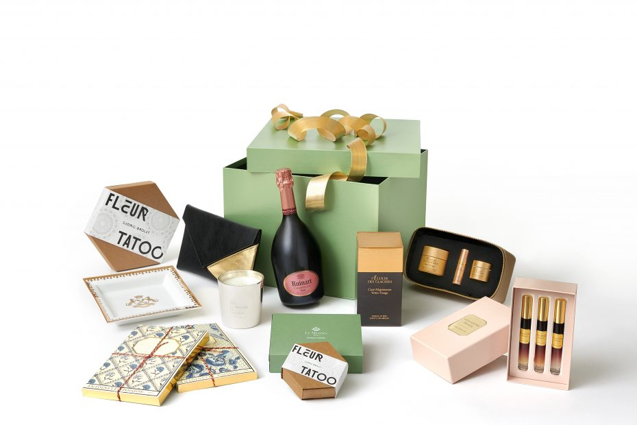 Christmas gift boxes by Le Meurice Paris